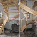Die Wangentreppen aus Holz aus Polen