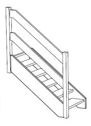 gerade oder gebogene Holzbänder