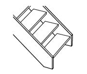 Treppe ohne Blockstufen